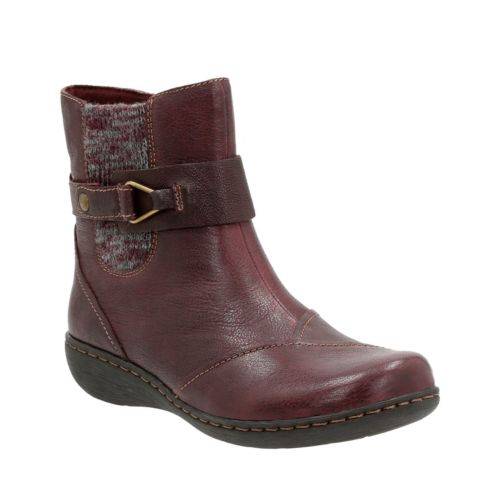 Fianna Adley Aubergine Leather womens-ankle-boots