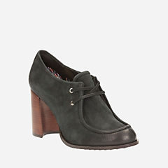 Cass Day Black Nubuck womens-heels