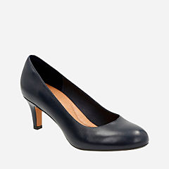 Heavenly Heart Navy Leather womens-heels