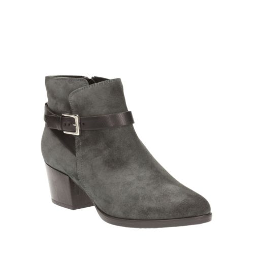 Christabel Eva Grey Suede womens-ankle-boots