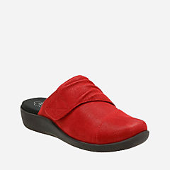 Sillian Rhodes Cherry Synthetic Nubuck womens-wide-width