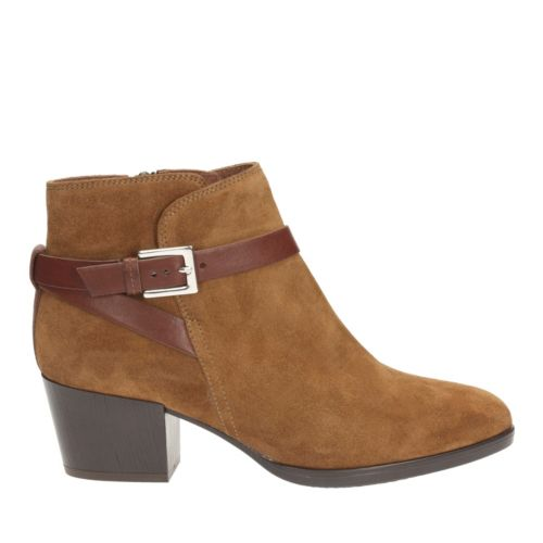 Christabel Eva Tan Suede womens-ankle-boots