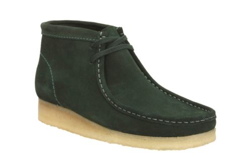 Wallabee Boot Dark Green Suede originals-mens-boots