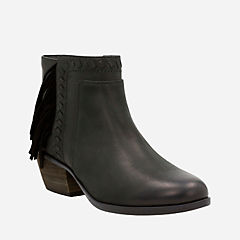Gelata Flora Black Leather womens-ortholite
