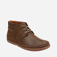 Trapell Mid Dark Brown Lea mens-ortholite