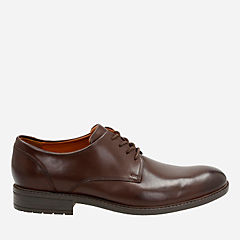 Truxton Plain Brown Waterproof Leather mens-ortholite