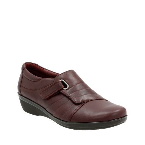 Everlay Luna Aubergine Leather womens-wide-width