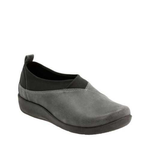 Sillian Greer Grey Synthetic Nubuck womens-new-markdowns