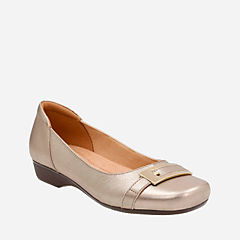 Blanche West Gold Metallic Leather womens-flats