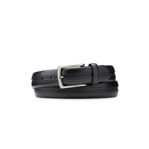 Men's Center Stitch Dress Belt  Black mens-accessories