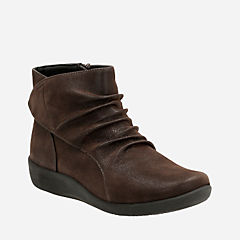 Sillian Chell Brown Synthetic Nubuck womens-wide-width