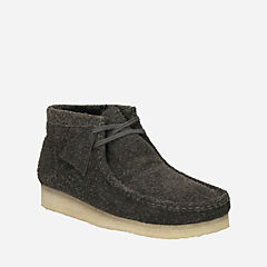 Wallabee Boot Grey Warm Lined Suede mens-wallabees