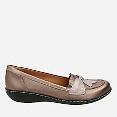 Ashland Bubble Pewter Leather womens-flats