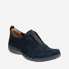 Un Spirit Navy Nubuck womens-ortholite
