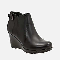 Camryn Rose Black Leather womens-shooties