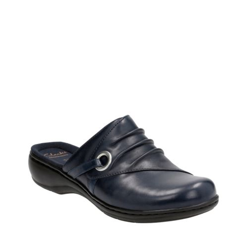 Leisa Bliss Navy Leather womens-clogs