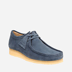 Wallabee Night Blue Suede originals-mens-shoes