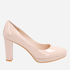 Kendra Sienna Nude Patent womens-closed-toe-heels