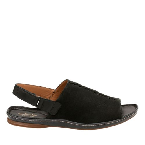 Sarla Forte Black Nubuck womens-flat-sandals