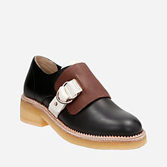 Maru Monk Black Combi Leather originals-womens