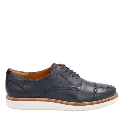 Glick Shine Navy Leather womens-casual-shoes