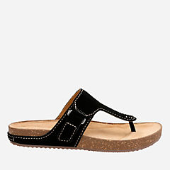 Rosilla Dover Black Suede womens-flat-sandals