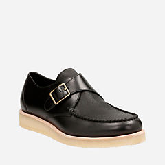 Burcott Monk Black Leather originals-mens-shoes