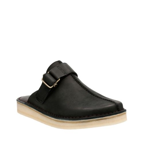 trek mule black leather clarks original shoes for