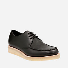 Burcott Field Black Leather originals-mens-shoes