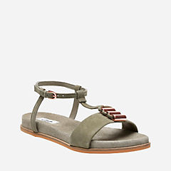 Agean Cool Sage Suede womens-flat-sandals