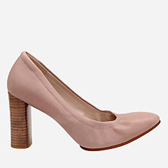 Grace Eva Dusty Pink Leather womens-heels