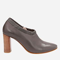 Grace Lola Dark Grey Leather womens-closed-toe-heels
