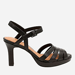 Mayra Poppy Black Leather womens-heels