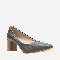 Grace Isabella Dark Grey Leather womens-heels