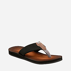 Lacono Beach Black mens-flip-flops-sandals