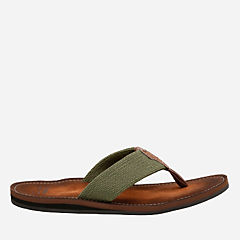 Lacono Beach Olive mens-flip-flops-sandals