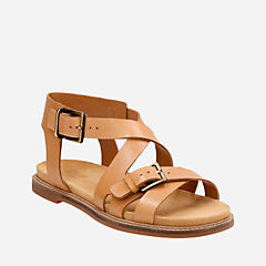 Corsio Bambi Light Tan Leather womens-flat-sandals
