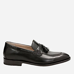Twinley Free Black leather mens-loafer-slip-on