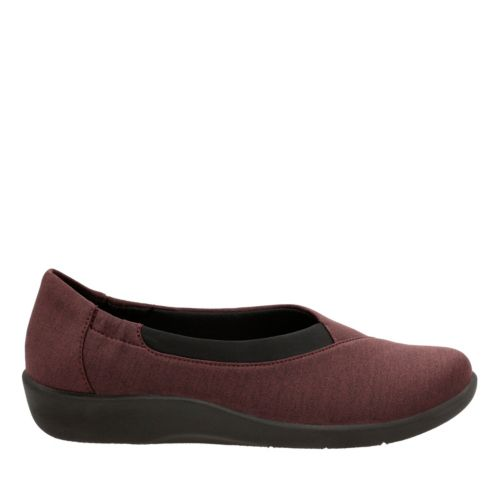 Sillian Jetay Burgundy Heathered Fabric womens-ortholite