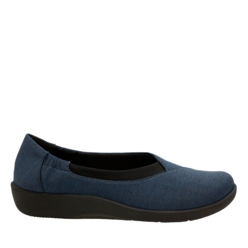 Sillian Jetay Dark Blue Heathered Fabric womens-comfort-shoes