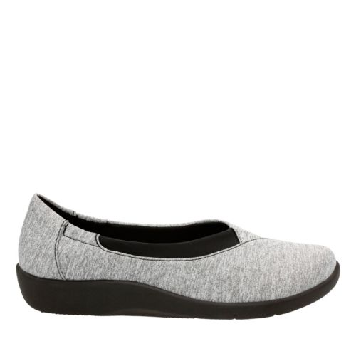 Sillian Jetay Grey Heathered Fabric womens-comfort-shoes