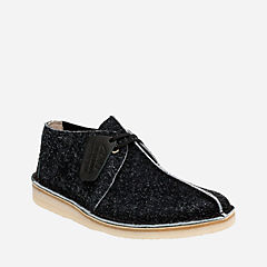 Desert Trek Black Hairy Suede originals-mens-shoes