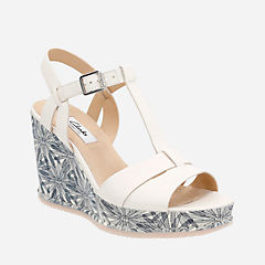 Adesha River White Leather womens-sandals-wedge