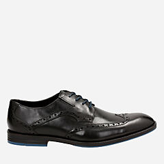 Prangley Limit Black leather mens-oxfords-lace-ups