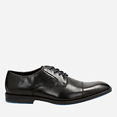 Prangley Cap Black leather mens-oxfords-lace-ups