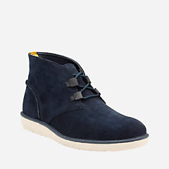 Fayeman Hi Navy Suede mens-ortholite