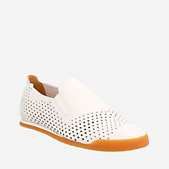 Siddal Step White Leather mens-loafer-slip-on