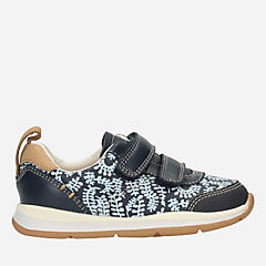 Ferris Vibe First Navy Combi Leather girls-sneakers