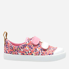 Halcy Hati First Pink Combi Canvas girls-sneakers