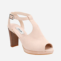 Kendra Charm Nude Suede womens-sandals-heels